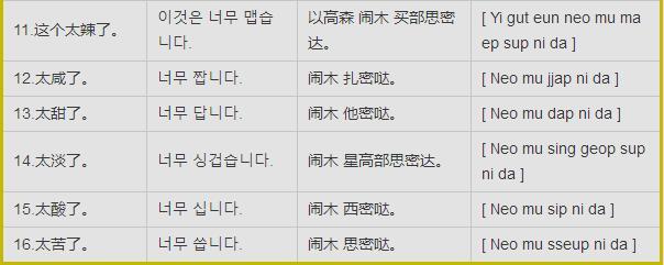 分享:韩语日常词汇大全4